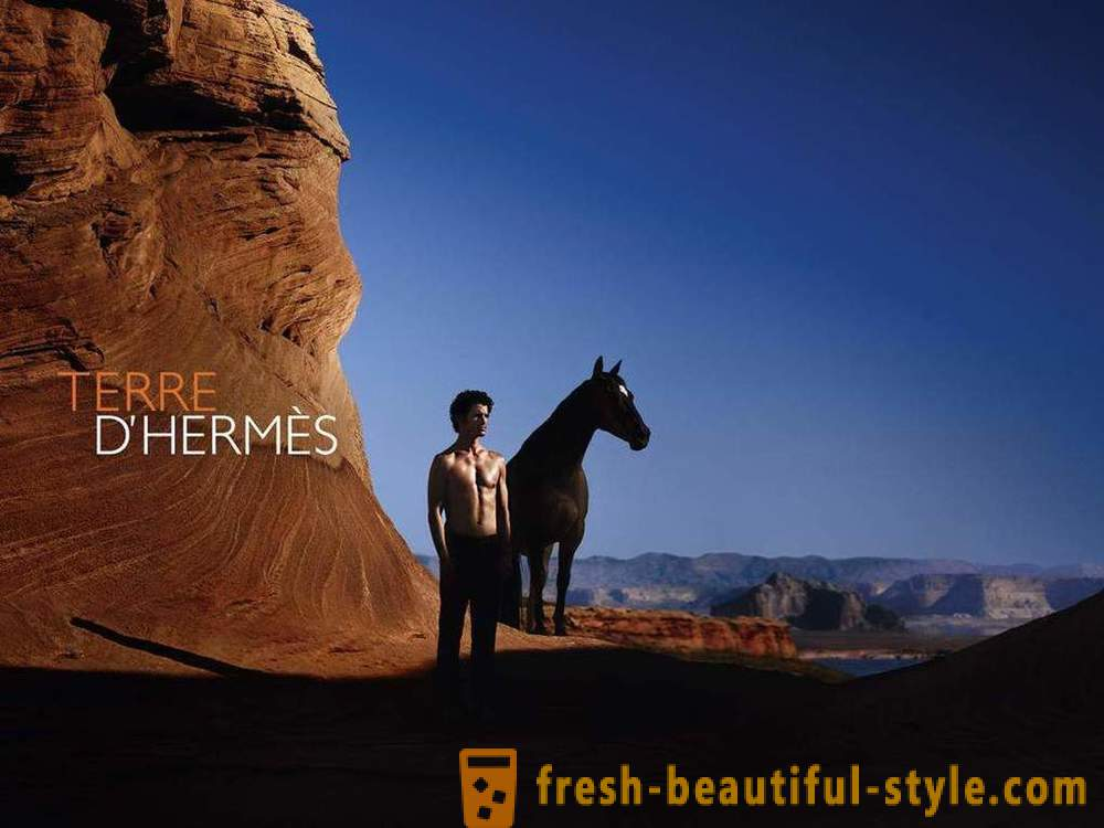 Aromatic elegance of male perfume by Hermes