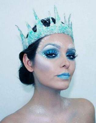 Makeup Snow Queen: options makeup and photo