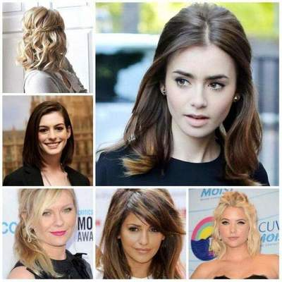 Hairstyle loose hair of medium length: interesting ideas for everyday and holidays