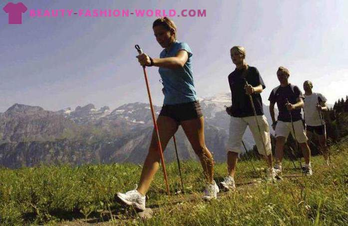 The benefits of Nordic walking with sticks, the correct technique, contraindications
