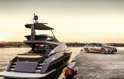 Luxury yachts with car design