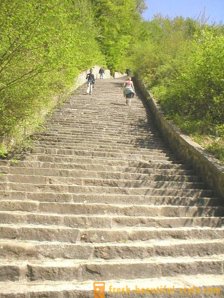 Stone stairs of death in Austria