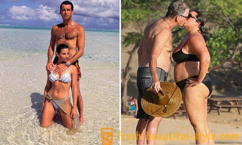 Pierce Brosnan and his wife celebrated their silver wedding