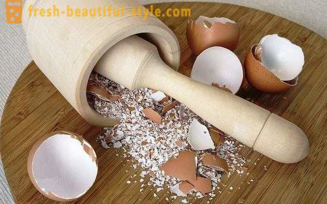 The use of the eggshell at home