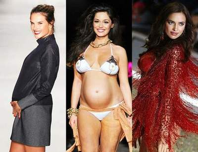 Defile in an interesting position: Irina Shayk and other pregnant model who boldly took to the podium