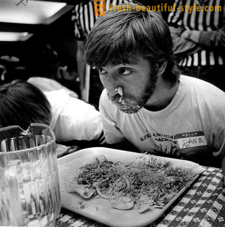 1915-1987 years: tenders for competitive eating