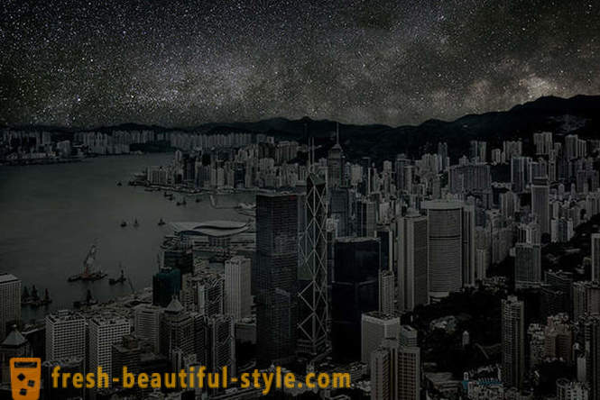 City, lit only by the stars