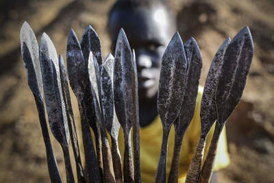 Archers tribe Pokot from Kenya