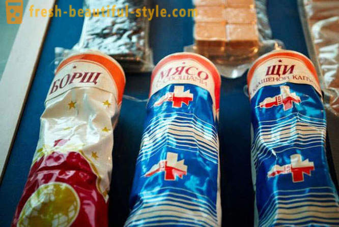 Food in tubes for Soviet cosmonauts