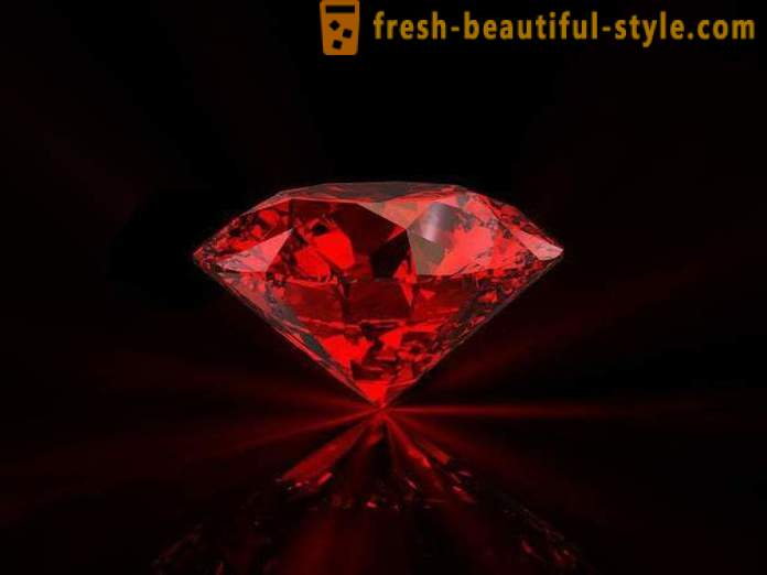 The most expensive in the world of stones: red diamond, ruby, emerald. The rarest gems in the world