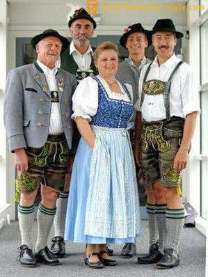 German national costumes for women, men and children. Ethnic garments