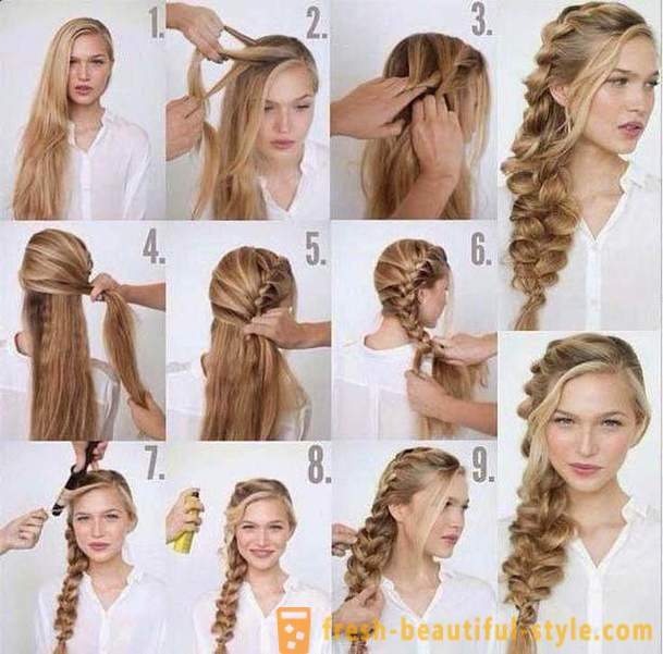 Hairstyle on long hair: manual. Hairstyles evening and every day
