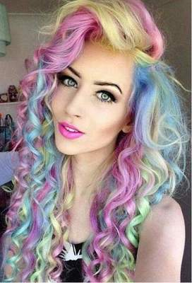 Multicolored hair - a bright accent in any manner